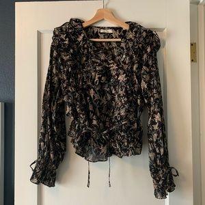 Doen Luca top - Black Lilium Floral - sz L